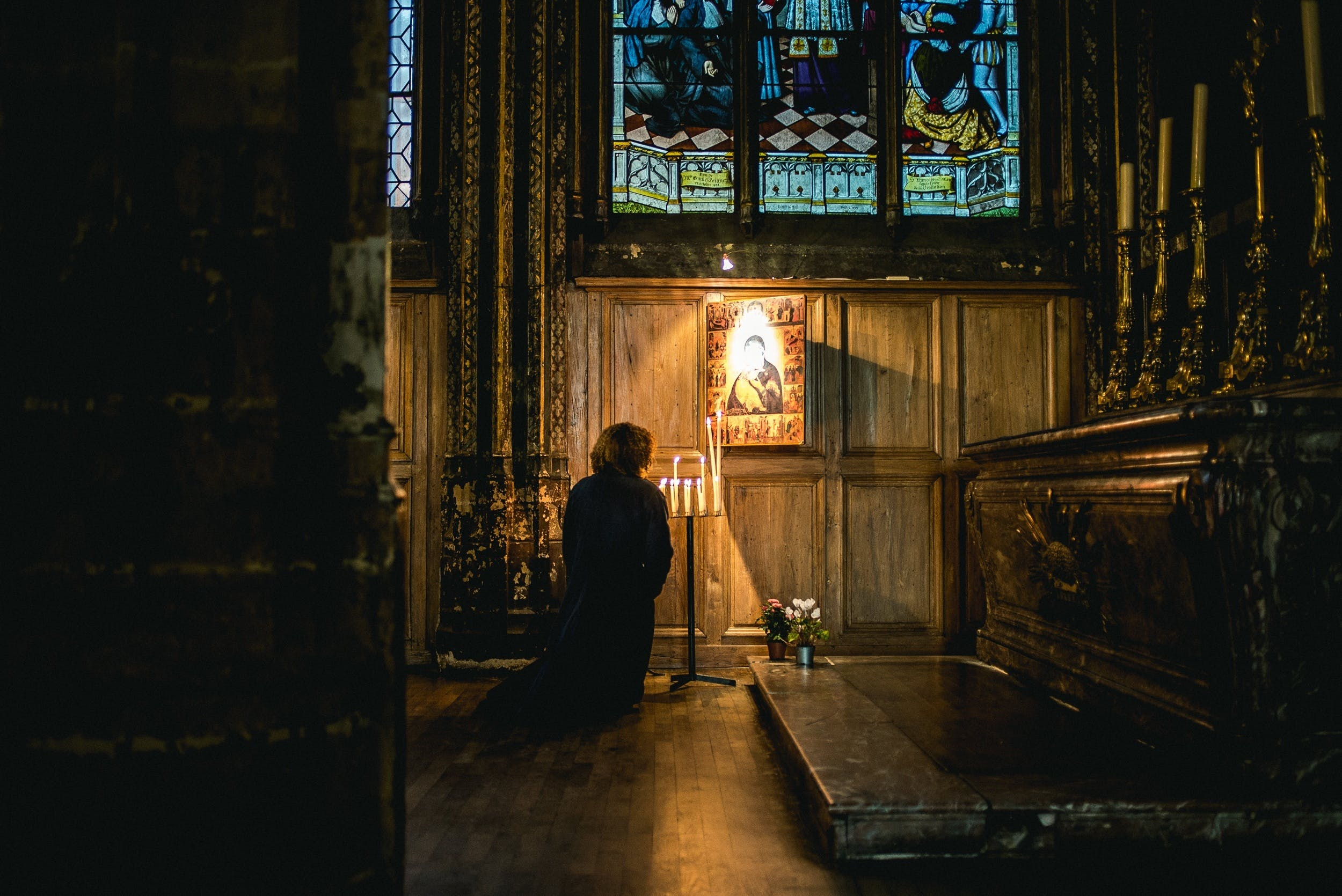 Free stock photo of person, church, worship, prayer