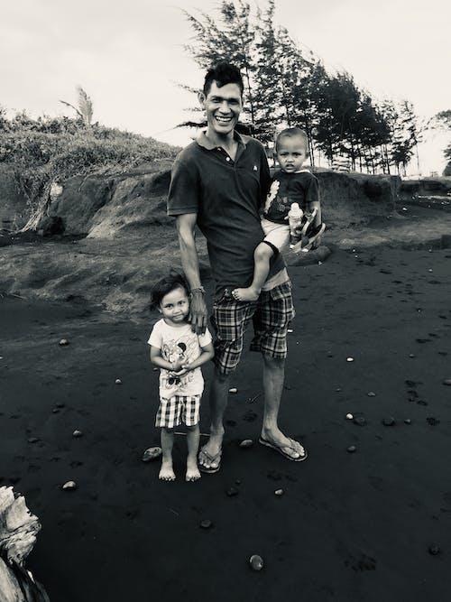 Free stock photo of beach, black and white, black sand beach