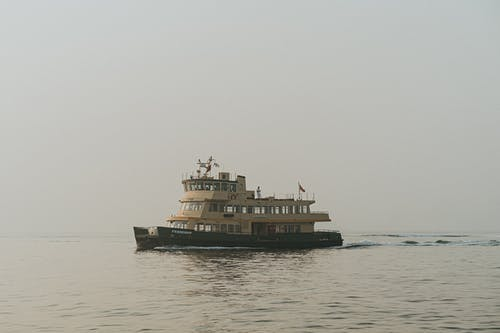 Free stock photo of boat, ferry, fog, mist