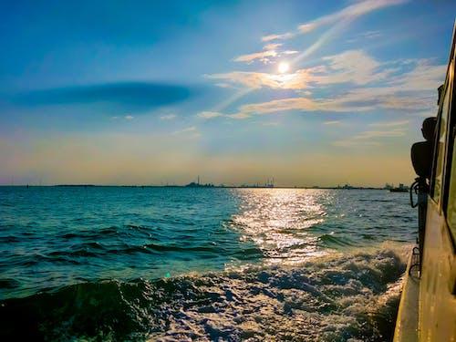 Ilmainen kuvapankkikuva tunnisteilla eurooppalainen matka, matkamuistoja, ranta auringonlasku, sininen taivas