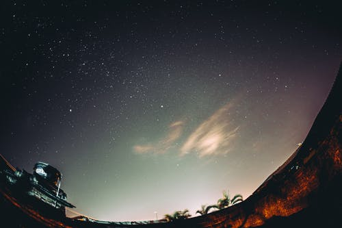 Magnificent shining stars in night sky