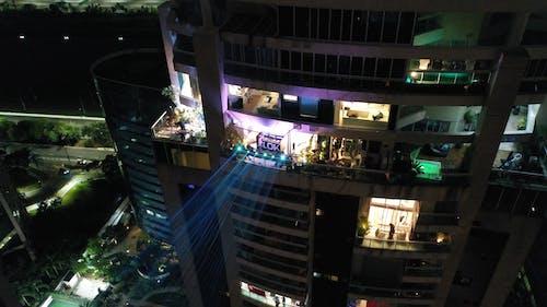Multi storey residential building at night