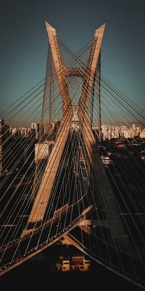 交通系統, 吊橋, 城市, 市中心 的 免費圖庫相片