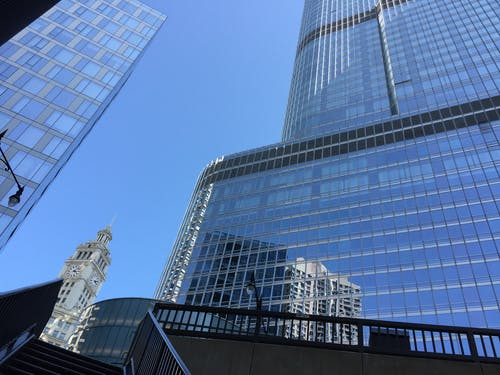 Free stock photo of blue skies, chicago, downtown chicago