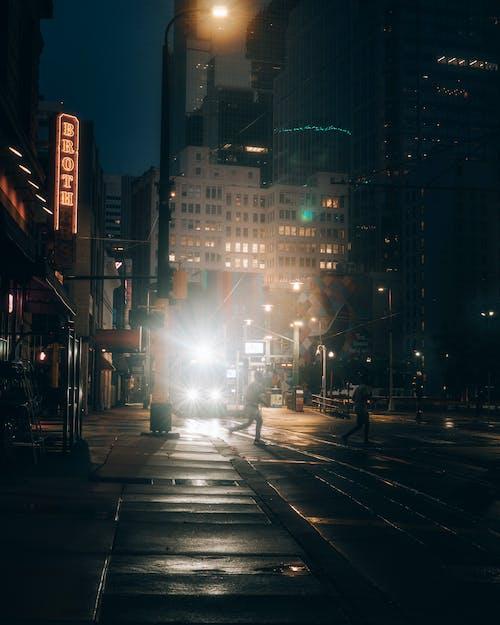 Ingyenes stockfotó absztrakt, alkonyat, autó, belváros témában