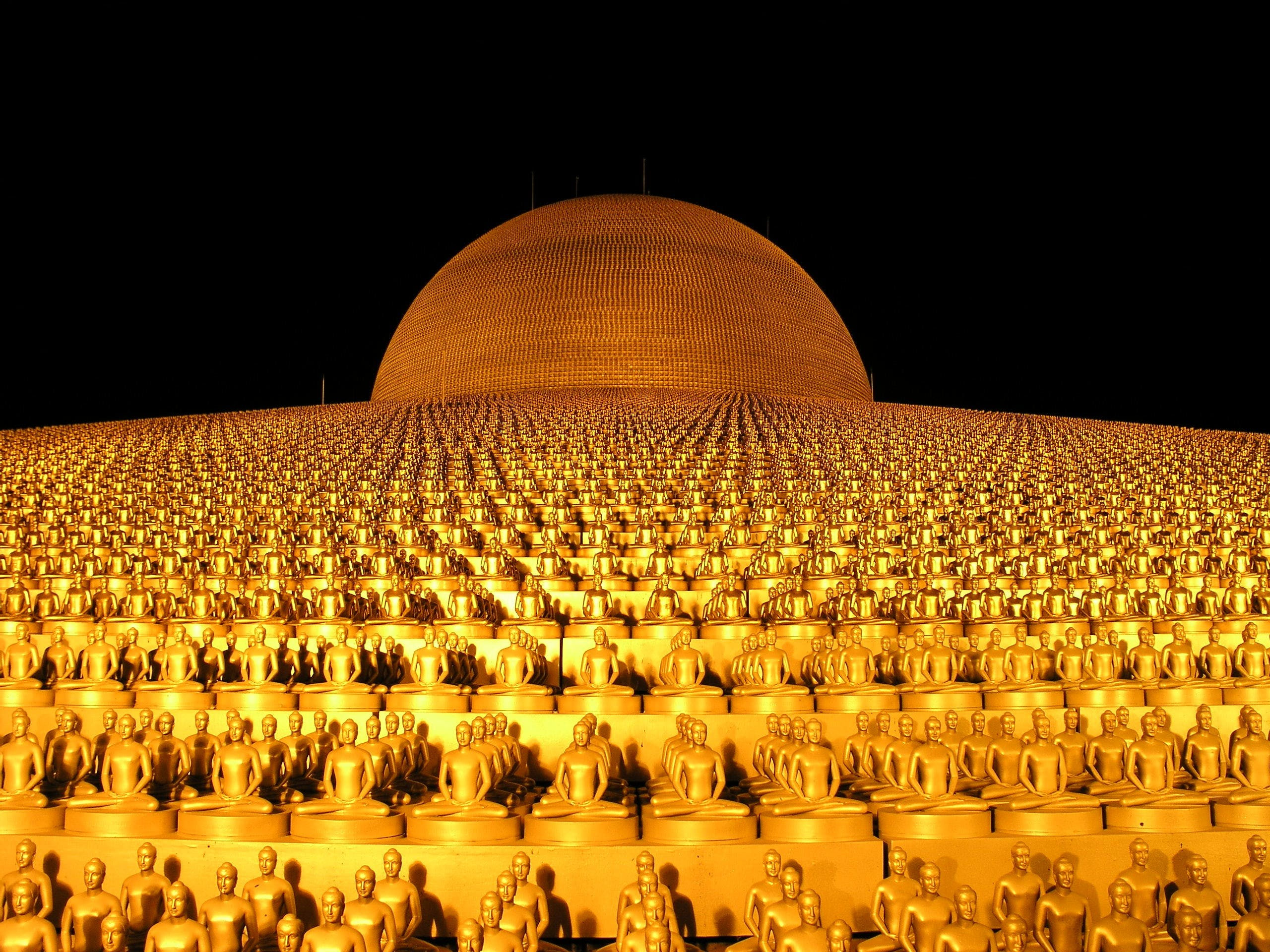 Gold-colored Buddhas Dome Building