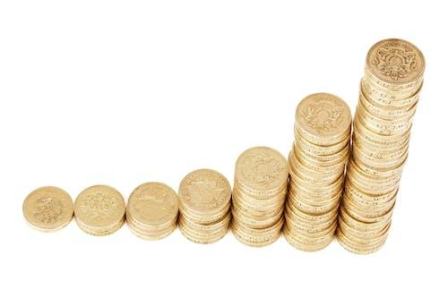 Kostenloses Stock Foto zu bar, britische münzen, ersparnisse, finanzen