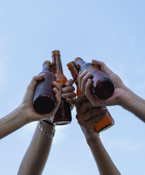 People Clinking Beer Bottles