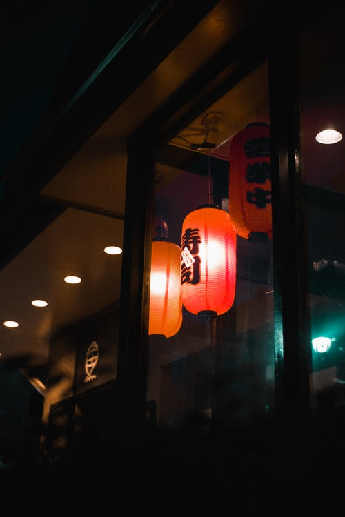 Free stock photo of chinese lantern, japanese lanterns, late night