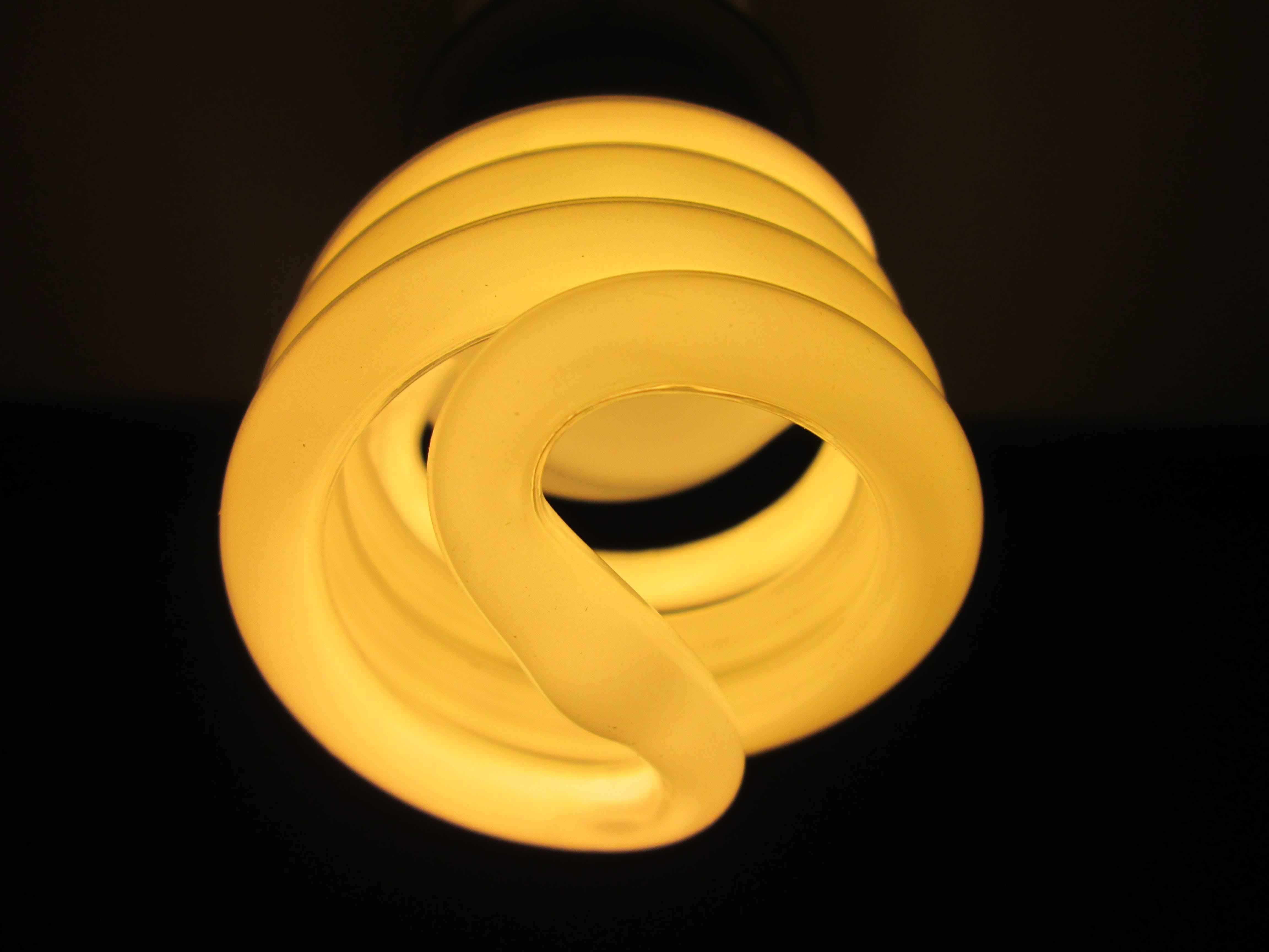 White Spiral Light Bulb