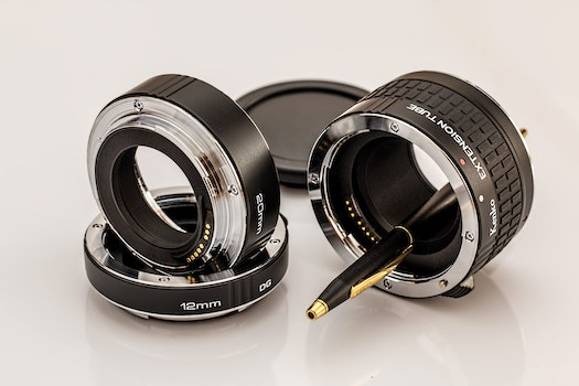 Photo of Black and White Camera Lens