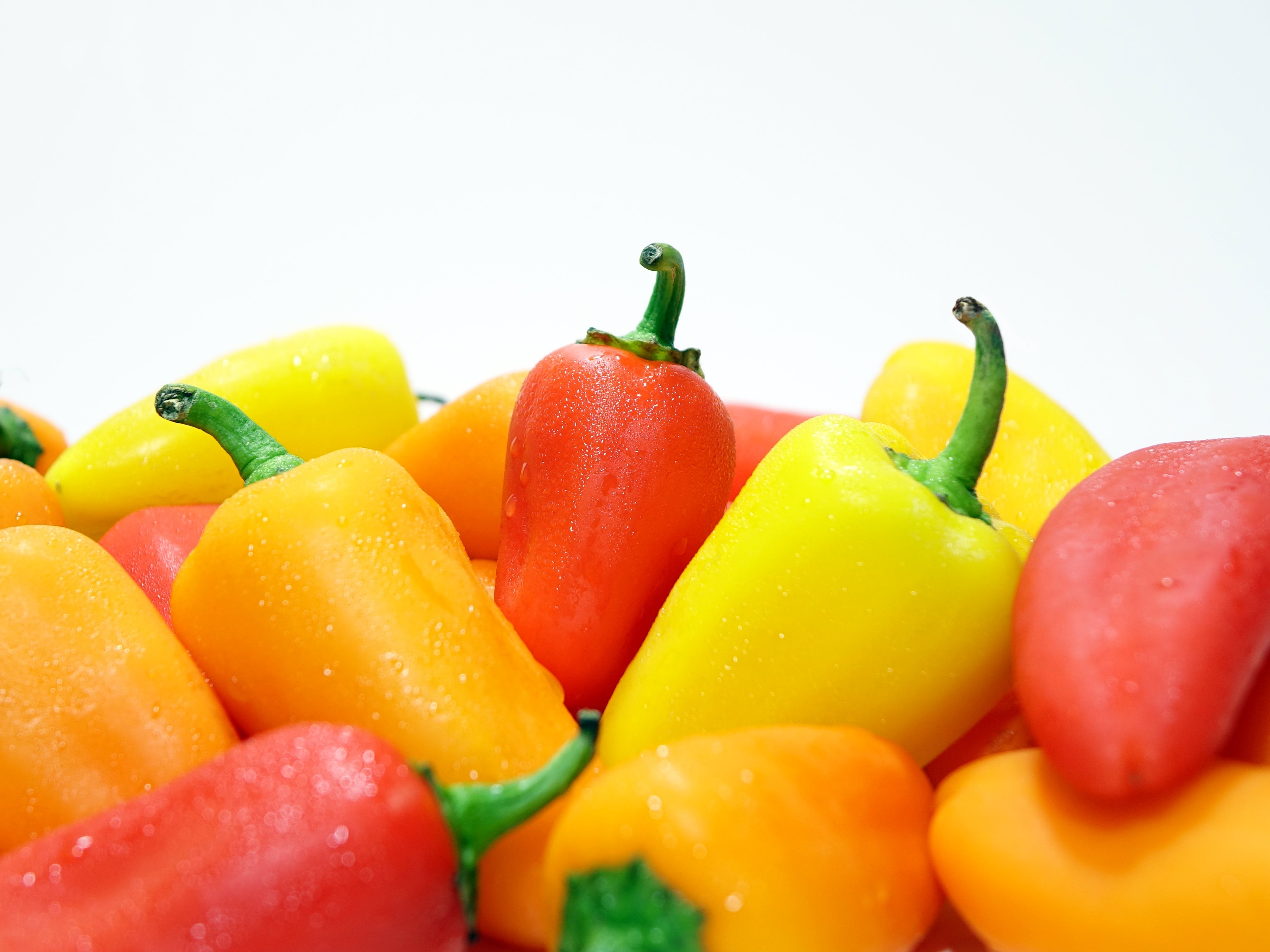 bell peppers, colorful, colourful