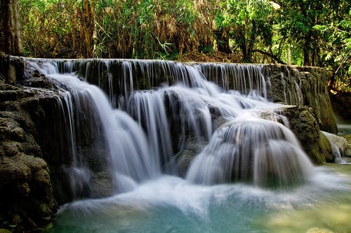 Waterfalls Beside Green Grass