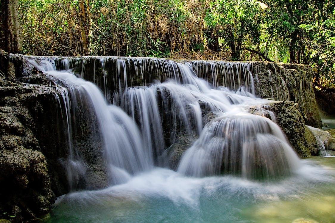 Waterfalls Beside Green Grass