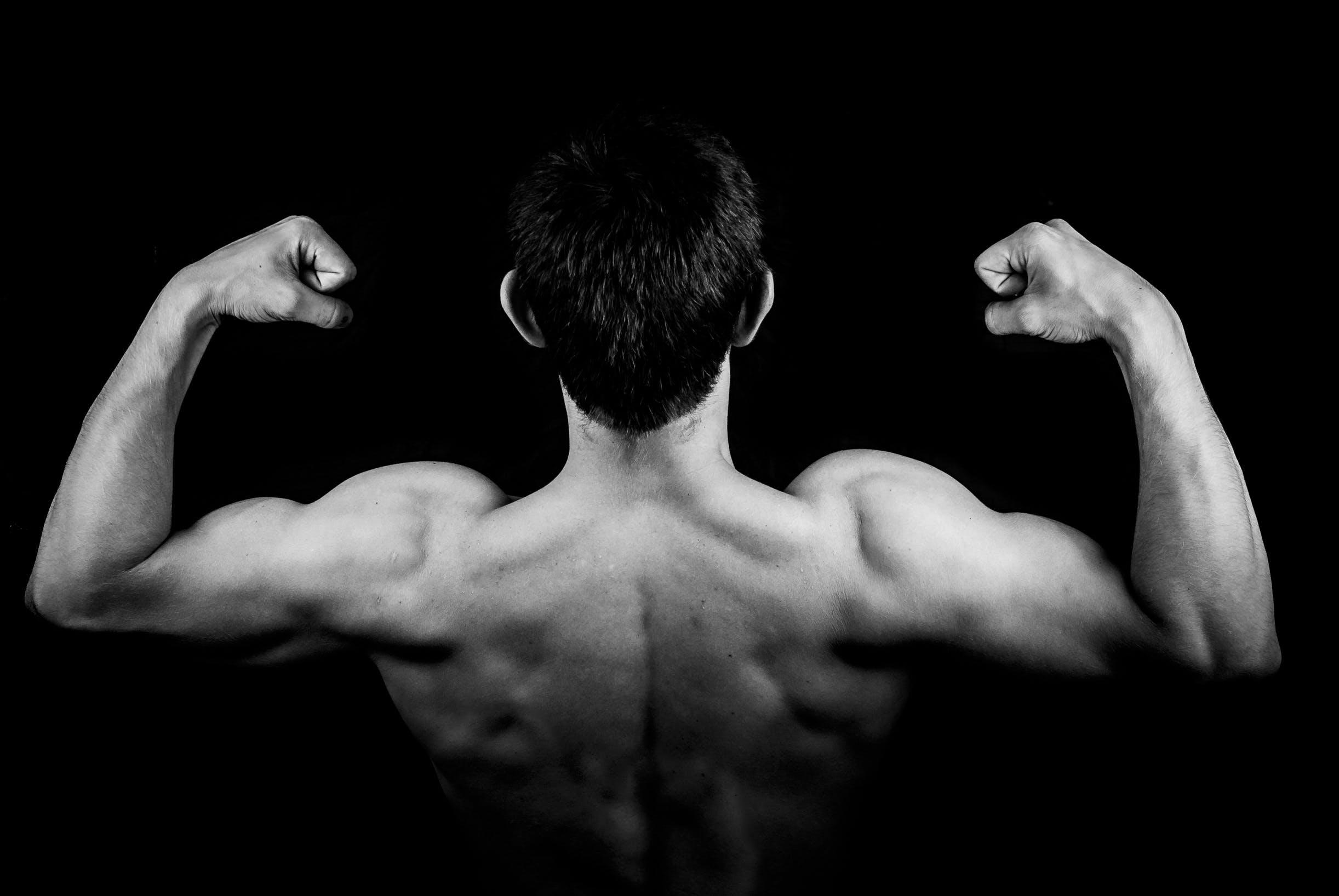คลังภาพถ่ายฟรี ของ กล้ามเนื้อ, ขาวดำ, ชาย, นักเพาะกาย