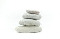 felsen, gestapelt, steine