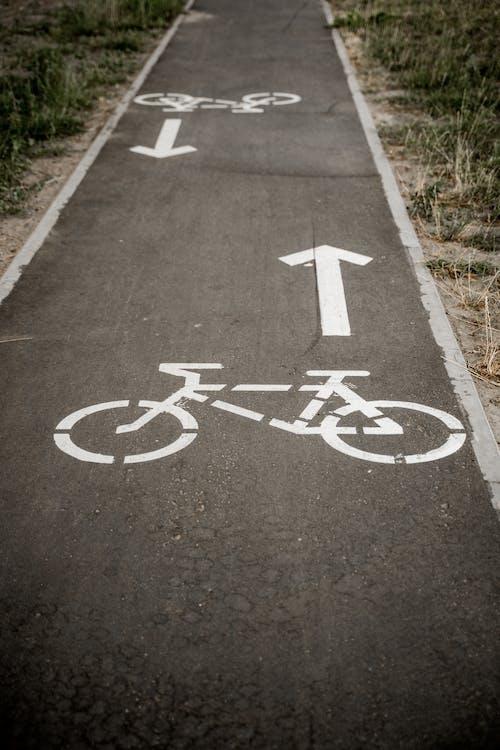 Black and White Concrete Road