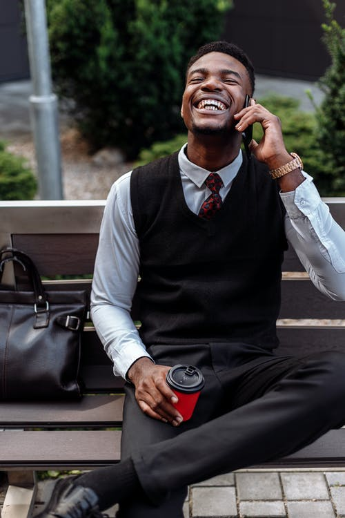 A Man Talking on His Cellphone