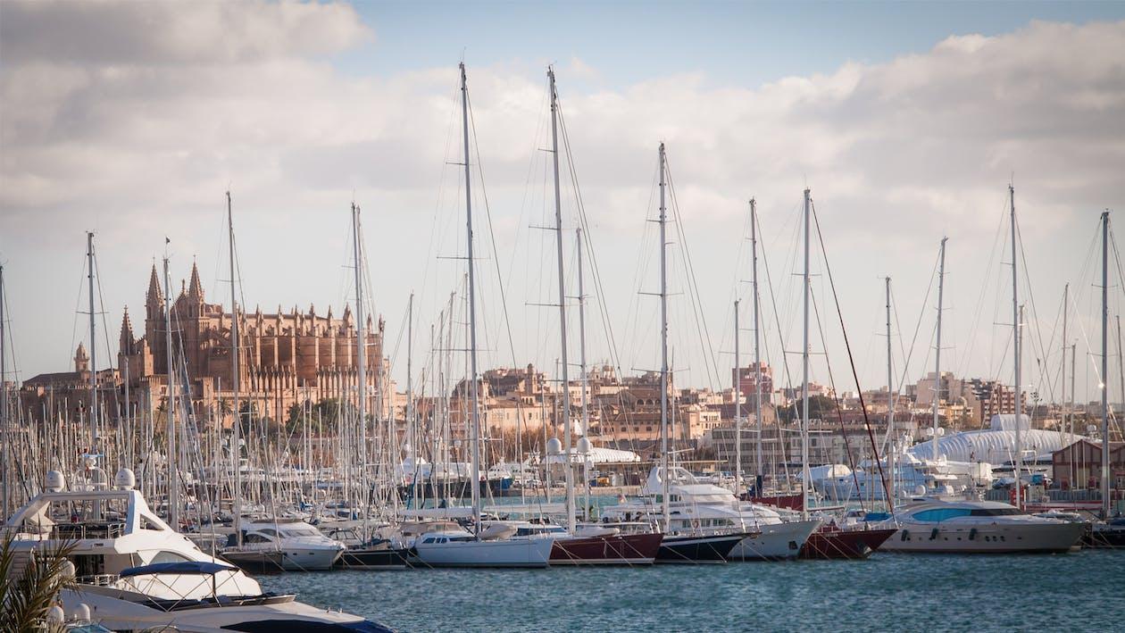 Yachts Docked at Pier