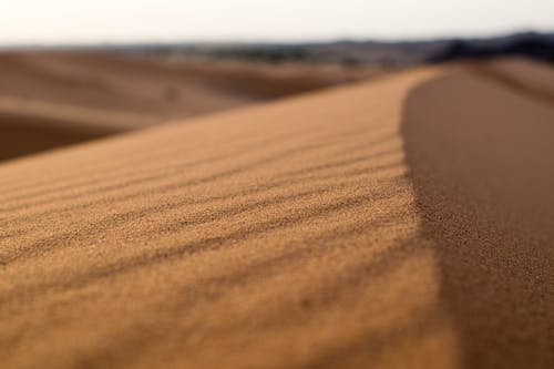 Brown Sand on Desert