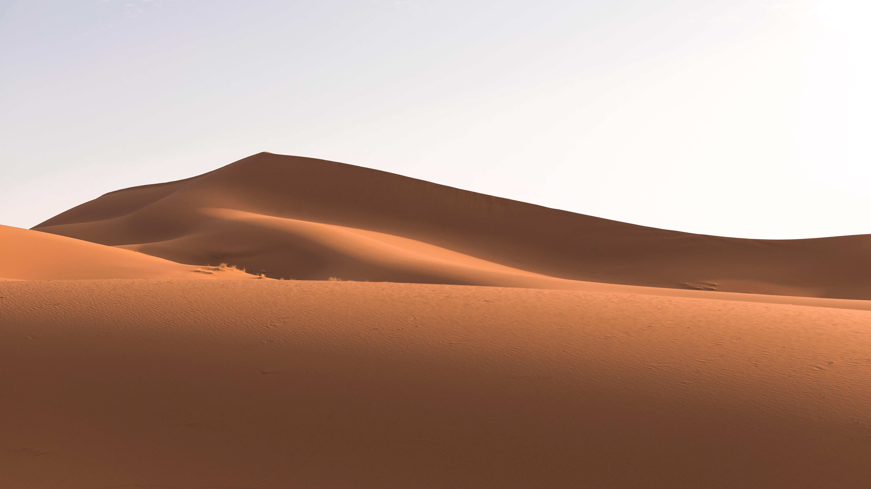 Desert Sand Under Clear Sky