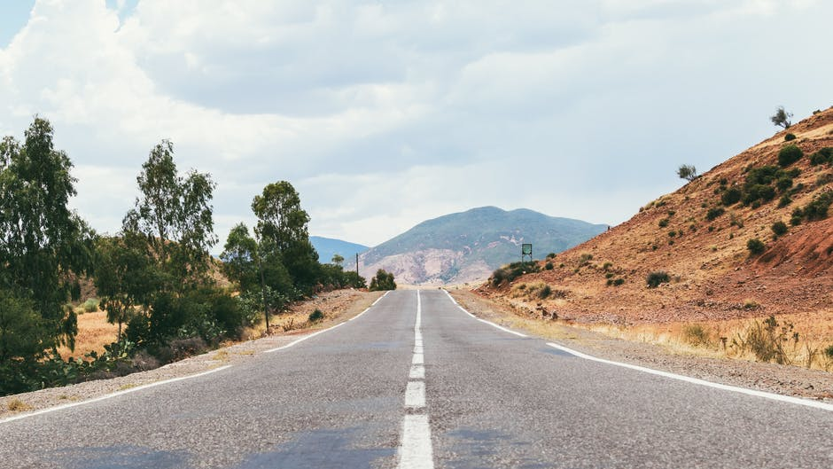 desert, landscape, road