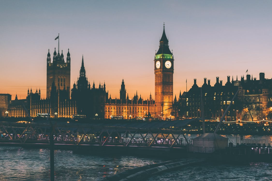 Big Ben, gece, İngiltere