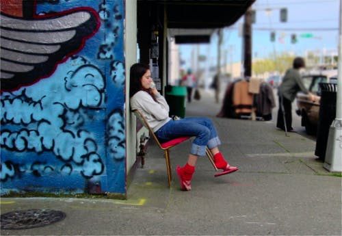 Foto profissional grátis de rua johan bos cadeira de telefone
