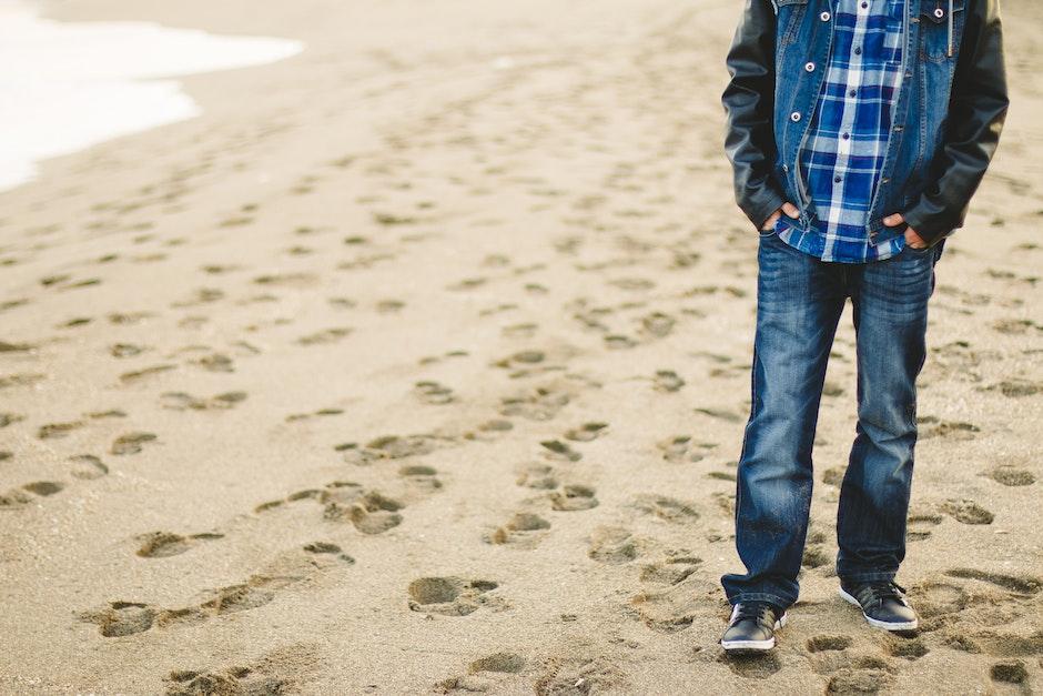 beach, fashion, footprints