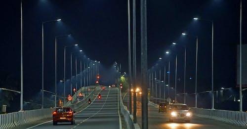 Free stock photo of night, road