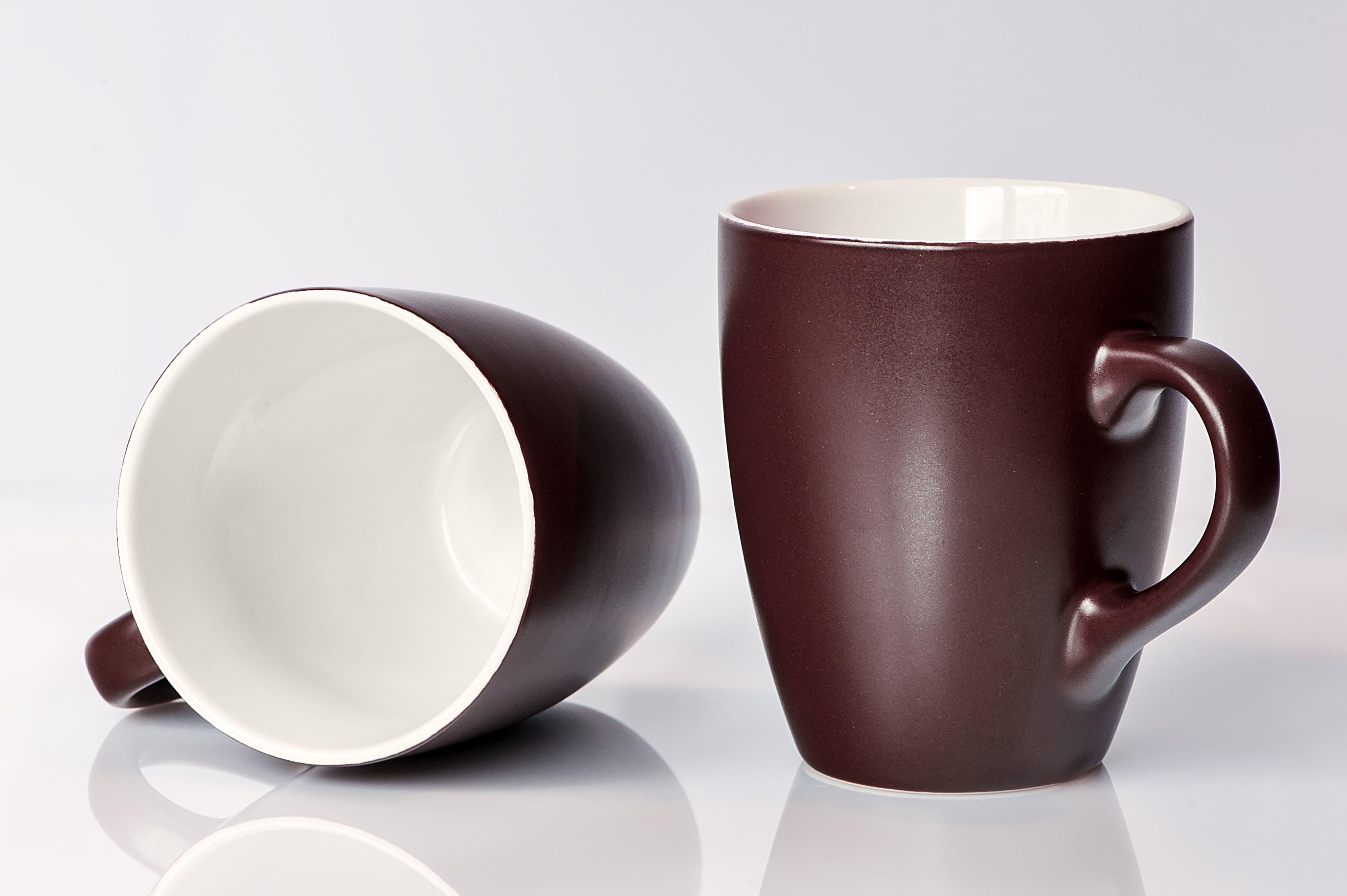 Brown and White Ceramic Mug