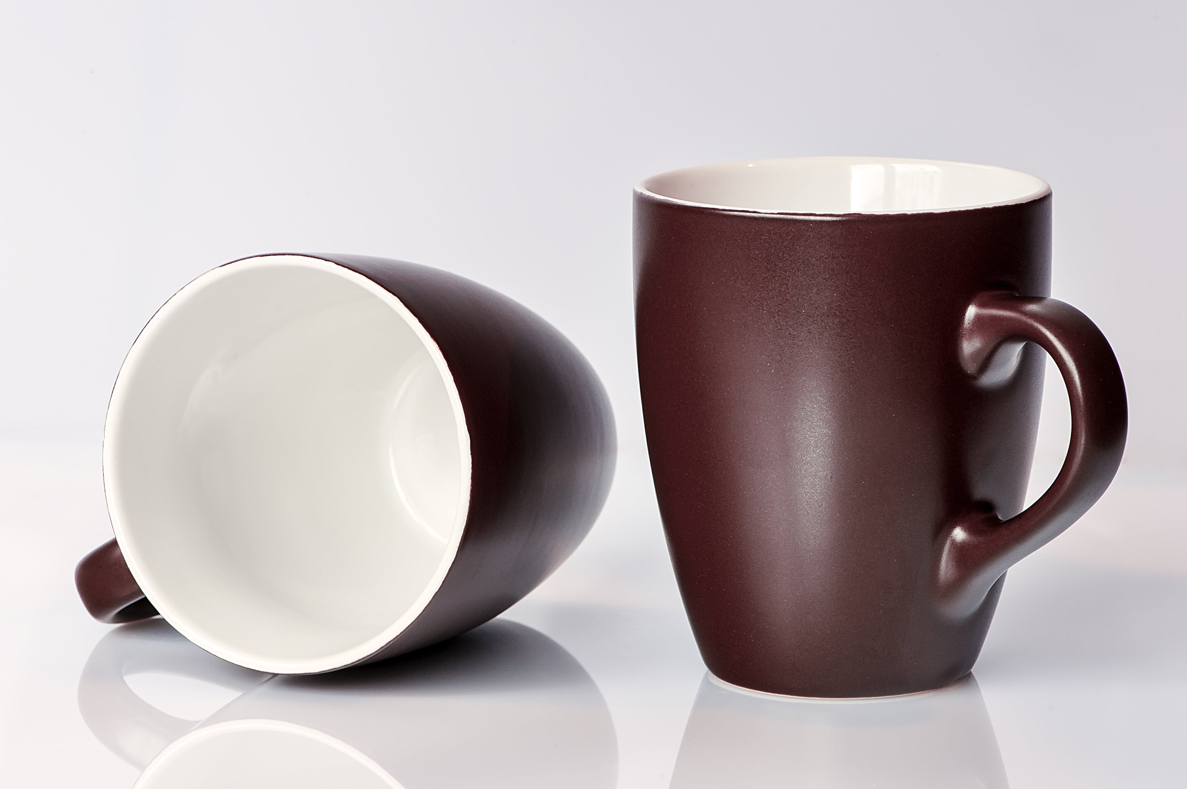 Brown and White Ceramic Mug