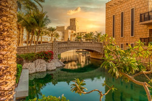 Free stock photo of abendsonne, Brücke, dubai