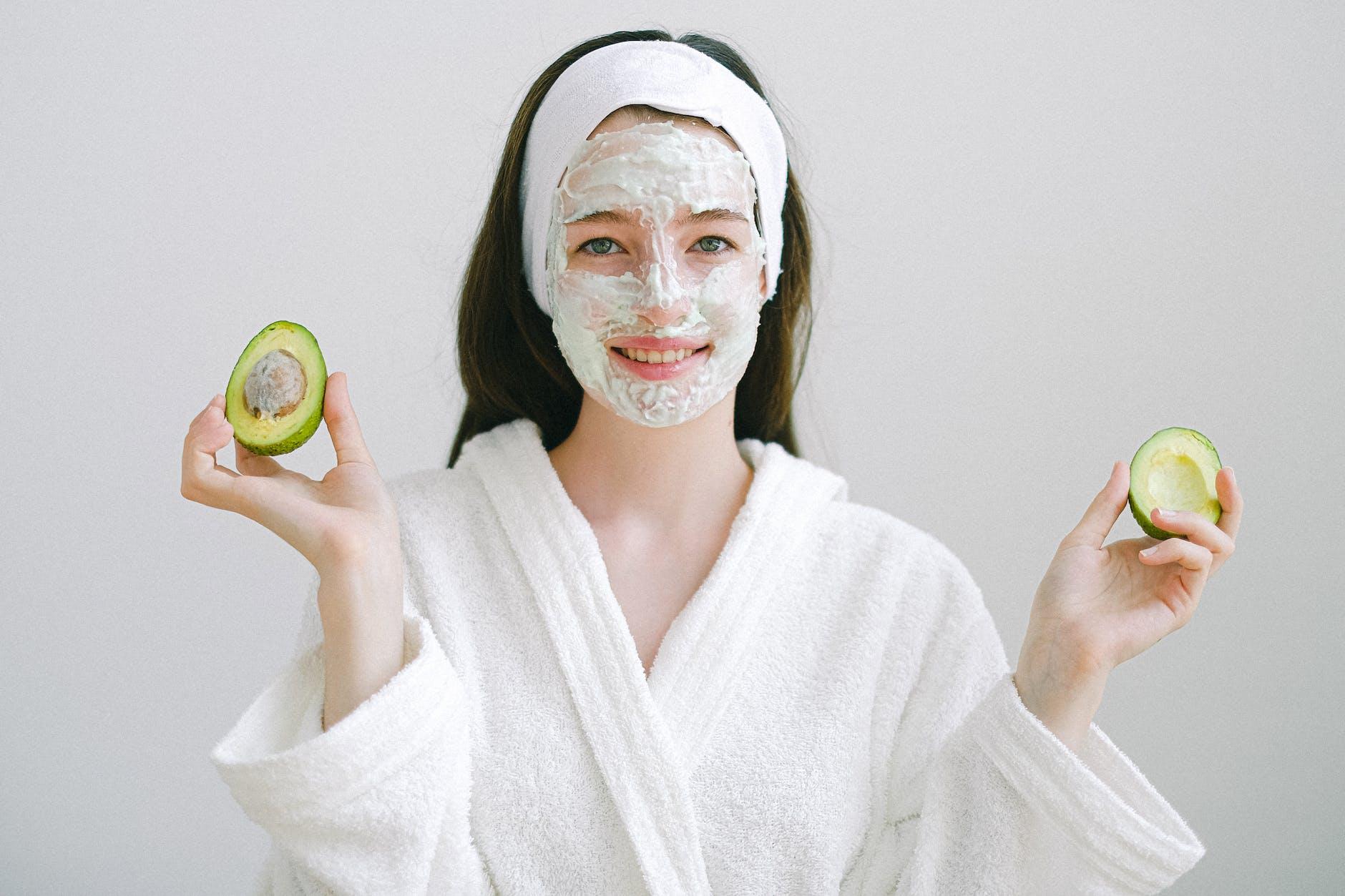 Avocado Mask Application