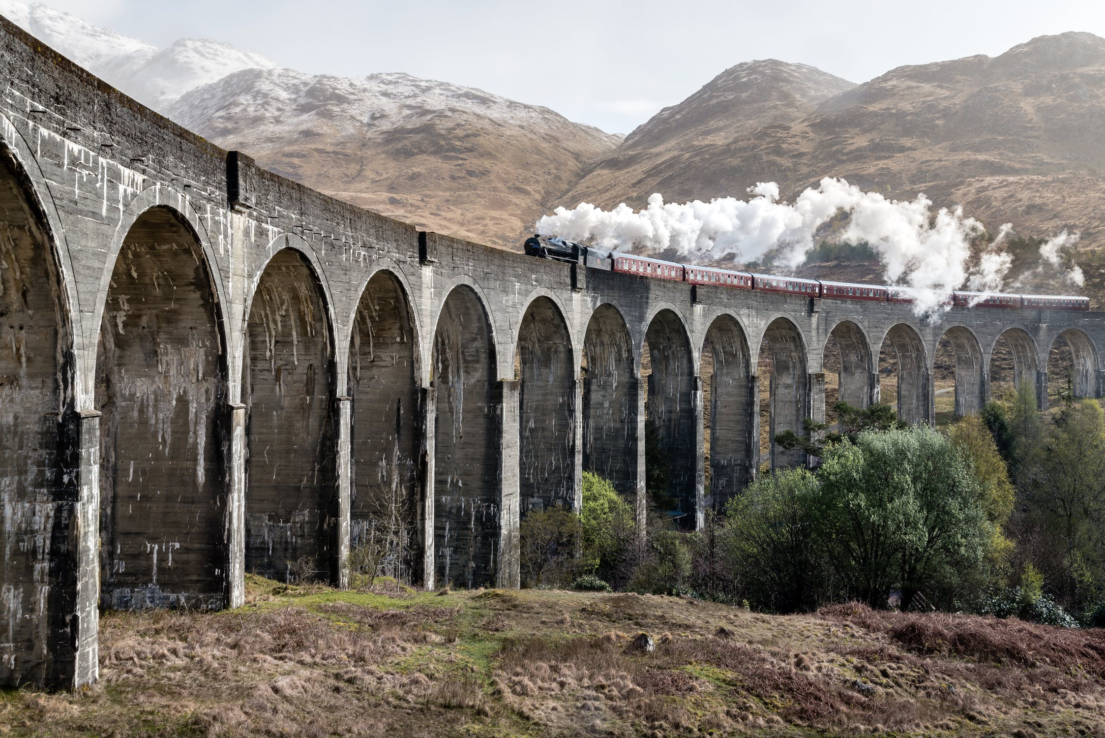 The famous Glenfinnian Viaduct. One way to enjoy a Scottish Staycation.