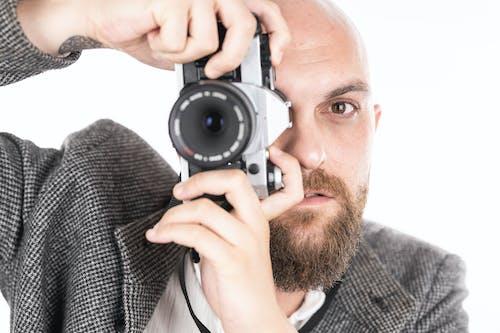 Kostenloses Stock Foto zu alt, analog, augen, bärtig