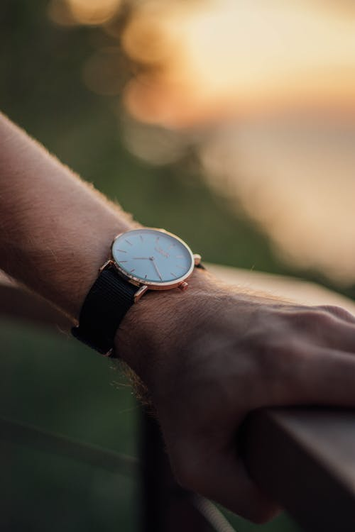 Close-Up Shot of a Person with a Wristwatch