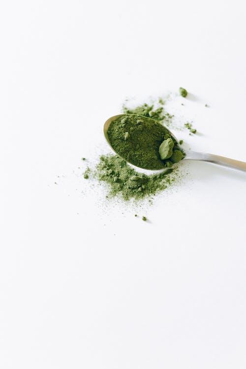 Matcha Powder on a Spoon