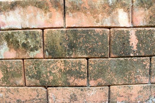 Free stock photo of dirty, dry, bricks, pattern
