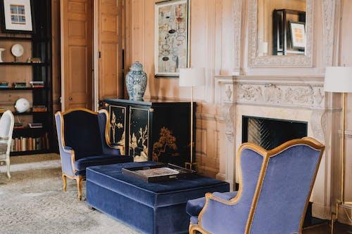 Free stock photo of armchairs, beautiful living room, california hotel