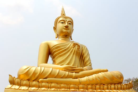 gold colored buddha statue free stock photo