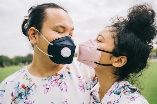 Couple Wearing Face Masks