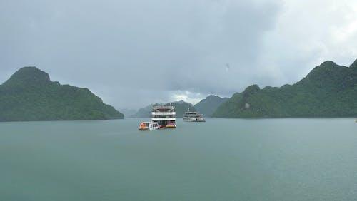 Free stock photo of bay, halong, rain, ship