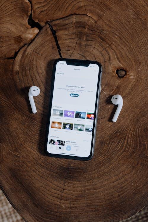 Smartphone and Wireless Headphones