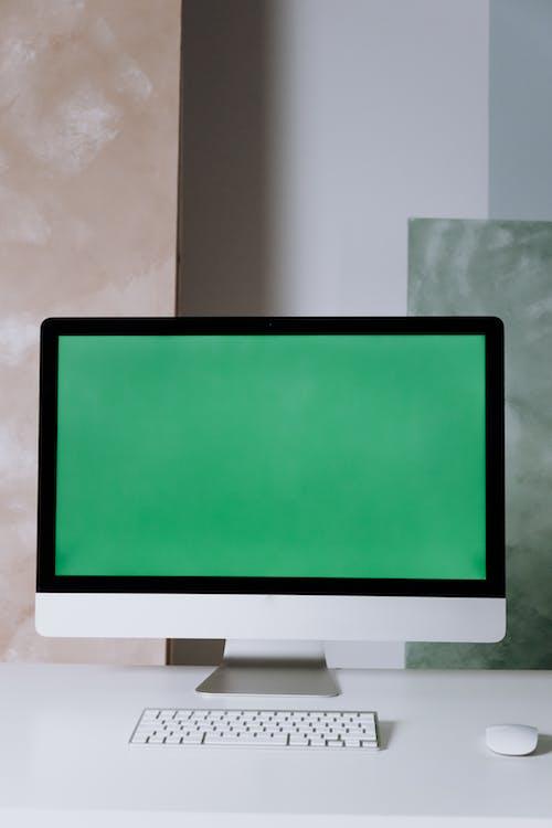 White Flat Screen Computer Monitor