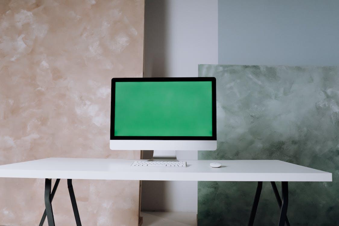 White Flat Screen Tv Turned Off