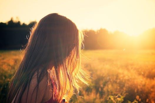 Free stock photo of dawn, nature, sunset, woman