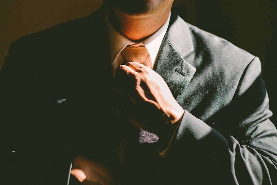 adjust, adjusting, businessman