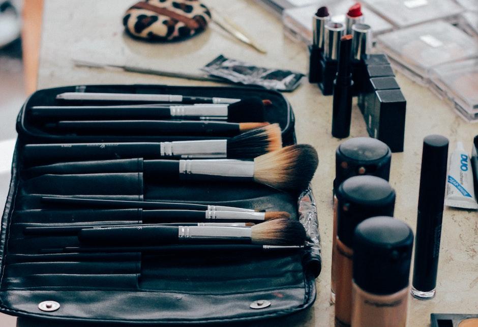 Pile of Black Makeup Brush