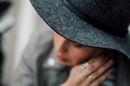 Free stock photo of hat, portrait, blurred, worried